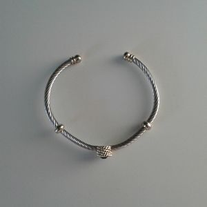 Silver and gold plated bracelet